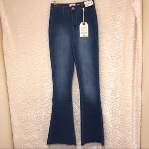 NWT YMI High Rise Soft Stretch Flare Jeans Light